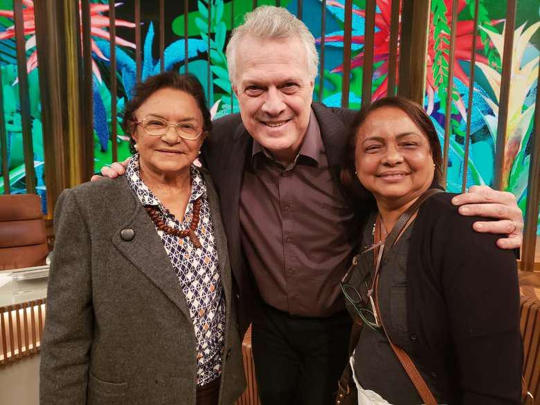 Pajé marajoara Zeneida Lima é entrevistada no programa Conversa com Bial